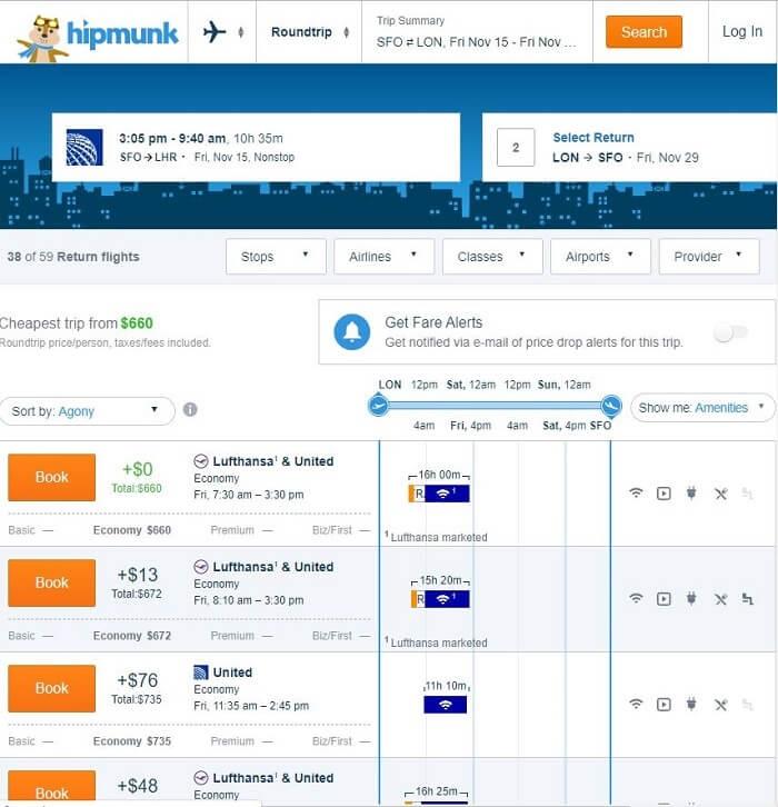hipmunk flight booking